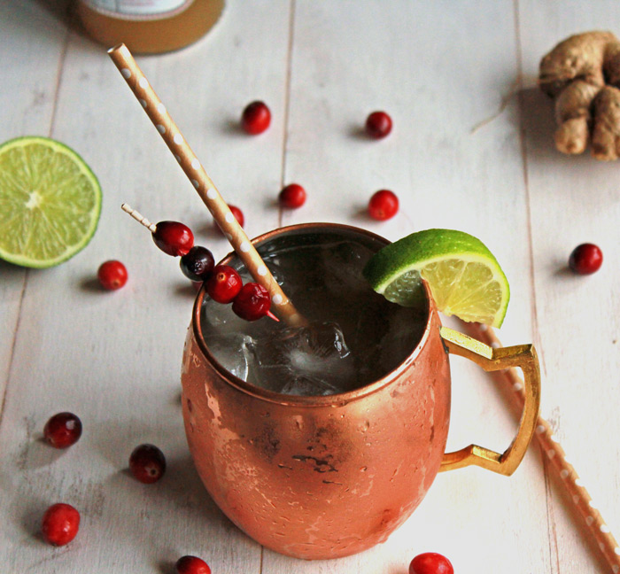Gingerberry Kombucha Moscow Mule - The Balanced Berry