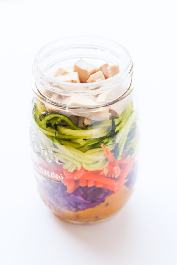 Easy Packed Lunch: Zucchini Noodle Salad with Spicy Peanut Sauce - The ...