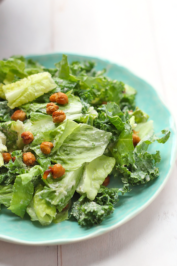 Vegan Kale Caesar Salad - The Balanced Berry