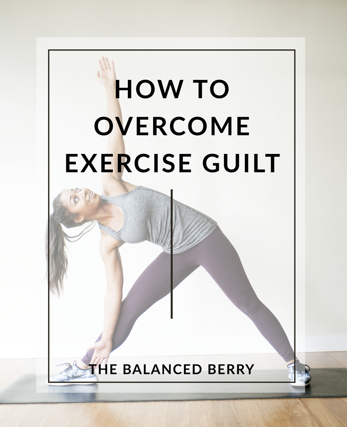 How to overcome exercise guilt - tips for reducing feelings of guilt in your fitness routine.