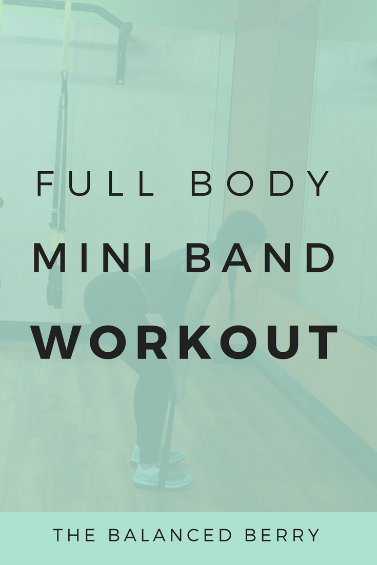 This Full Body Mini Band Workout will give you a full body burn with four simple moves.