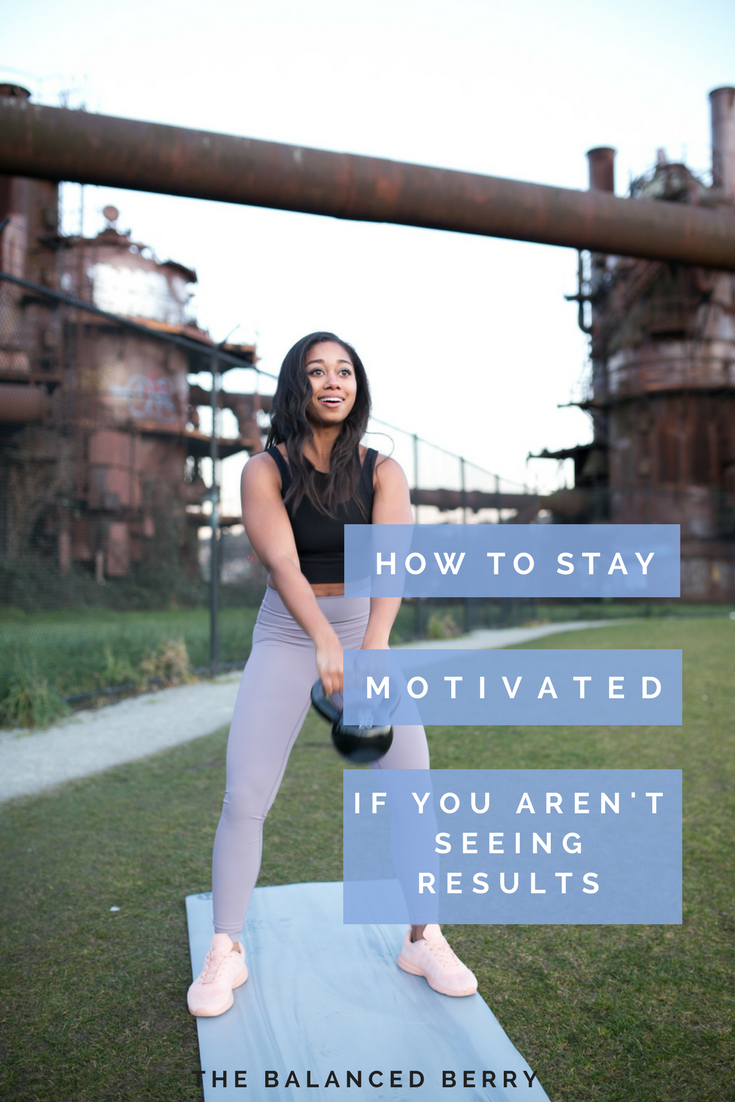 Not seeing the results you want from your diet and exercise routine? Here's how to stay motivated even when you hit a plateau.